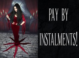 Need that special gown, or want to place a big order?  Now you can pay by instalments!