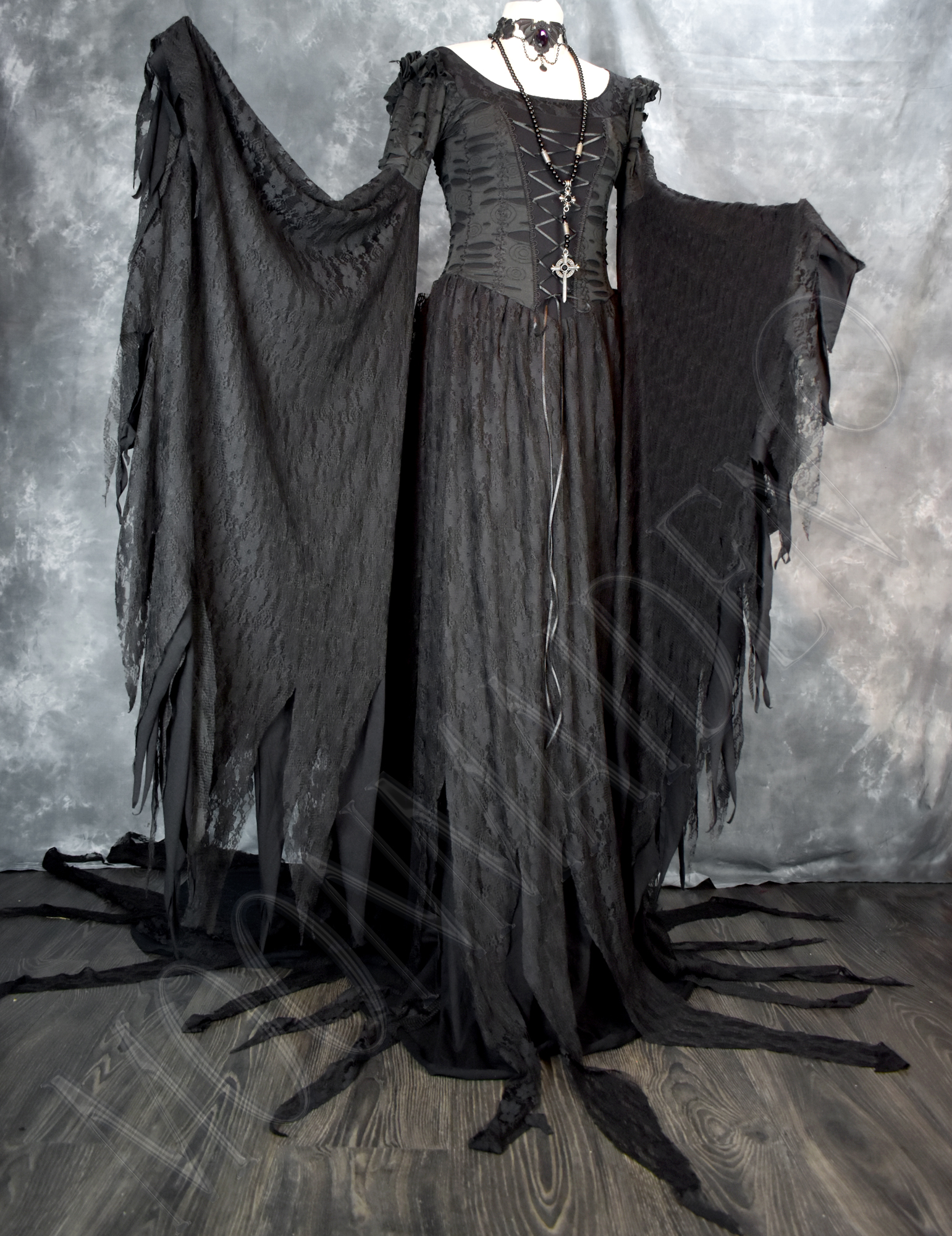 Morgana Maiden Dress... and Adella Hooded Capelet!