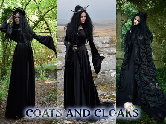 Epic steampunk coats, beautiful wiccan cloaks, and so much more!
