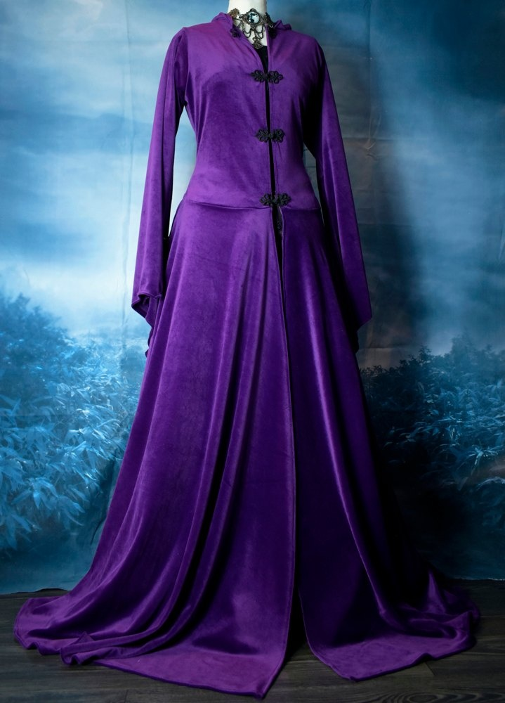 Lunaria Coat in Amethyst Steamed Velvet