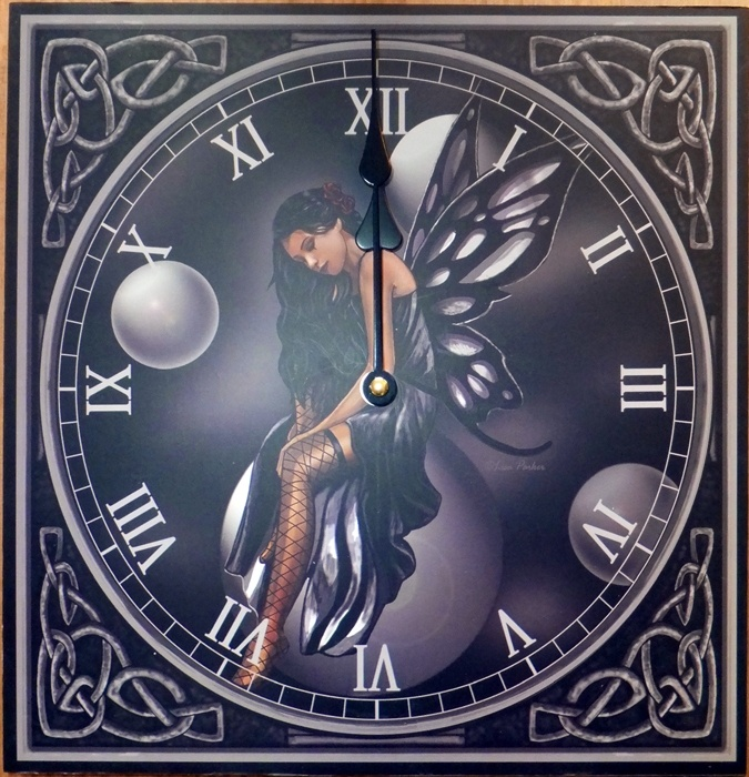 Dark Fairy Clock - SALE