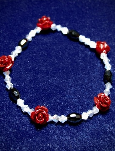 My Beautiful Gothic Rose Stretch Bracelet