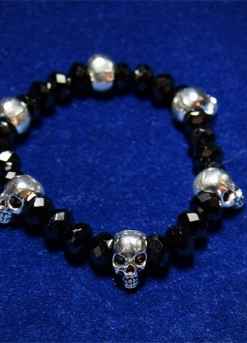 My Beautiful Gothic Skull Stretch Bracelet