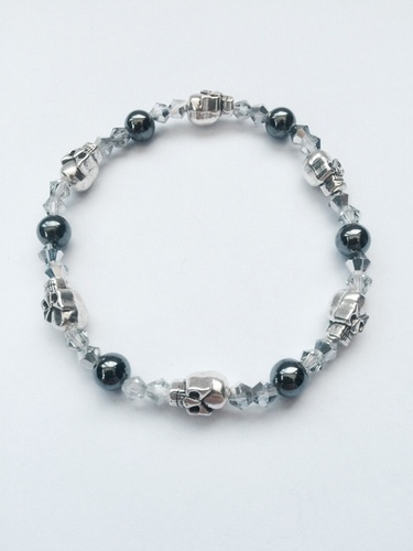 My Beautiful Gothic Hematite & Skull bracelet