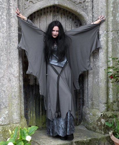 Grey Lady Lily Munster Gown