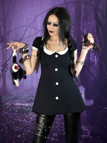 Widow Wednesday Addams Minidress