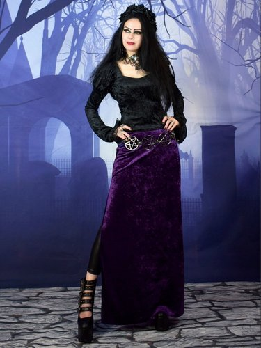 Vamp Side Split Skirt