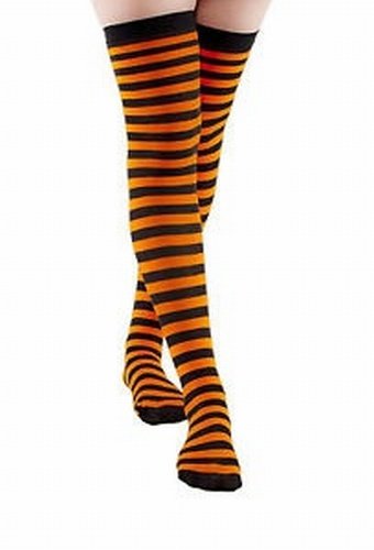 Narrow Striped Overknee Socks - SALE