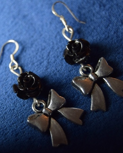 Rose and Bow Earrings